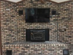 Fort Walton Beach TV Mounted to Brick Fi