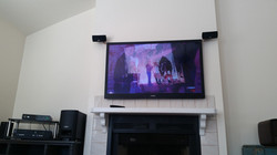TV Installation with Speakers