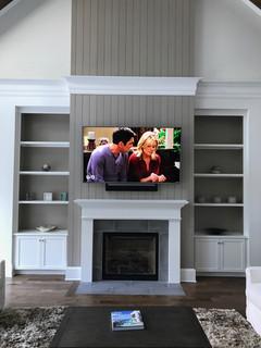 Destin, FL TV Mounted above Fireplace with Soundbar