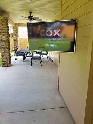 50 inch TV mounted to shiplap wall
