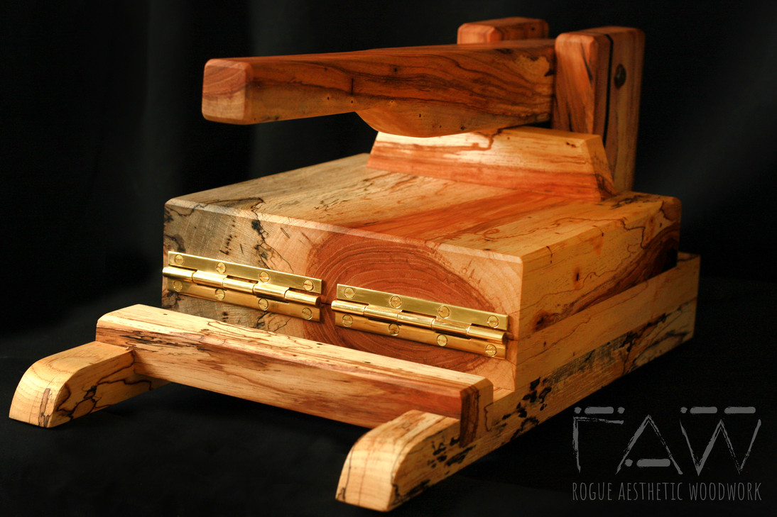 """9"""" Spalted Pecan Tortilla Press with Stability Sled"""