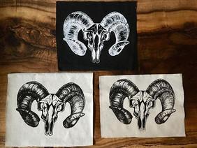 Some skull artwork put into organic hemp