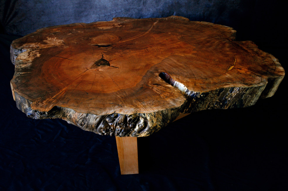 Maple Cookie Slab Coffee Table