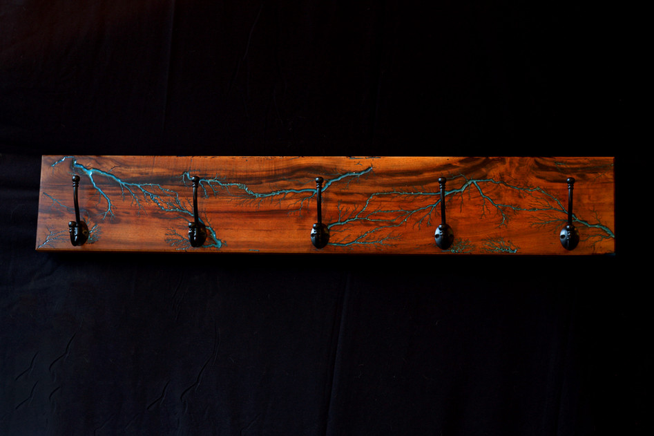 Myrtlewood Lichtenberg Coat Rack
