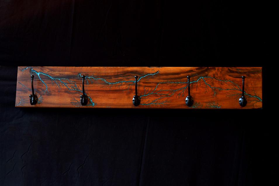 Myrtlewood Lichtenberg Coat Rack