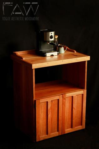 Cherry Coffee Stand with Microwave Shelf