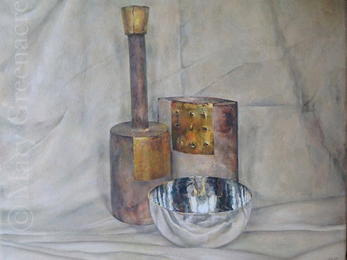Le Bol d'Argent  (The Silver Bowl)   Peinture originale