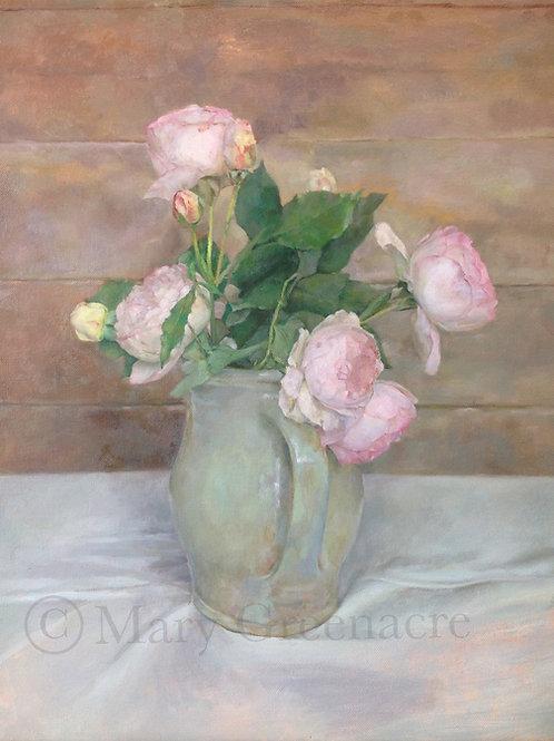 'Les Roses' Huile sur Toile / Oil on Canvas  VENDU/SOLD