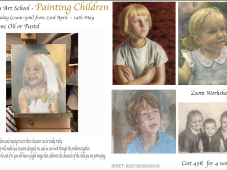 Painting Children on Zoom