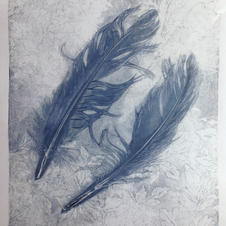 MonoPrinting with Natural Forms