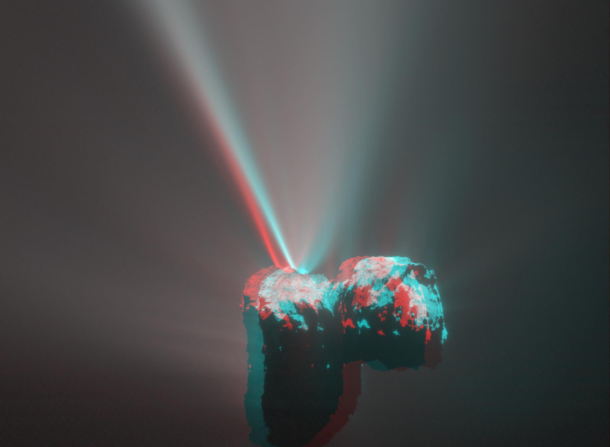 3-D image of Comet