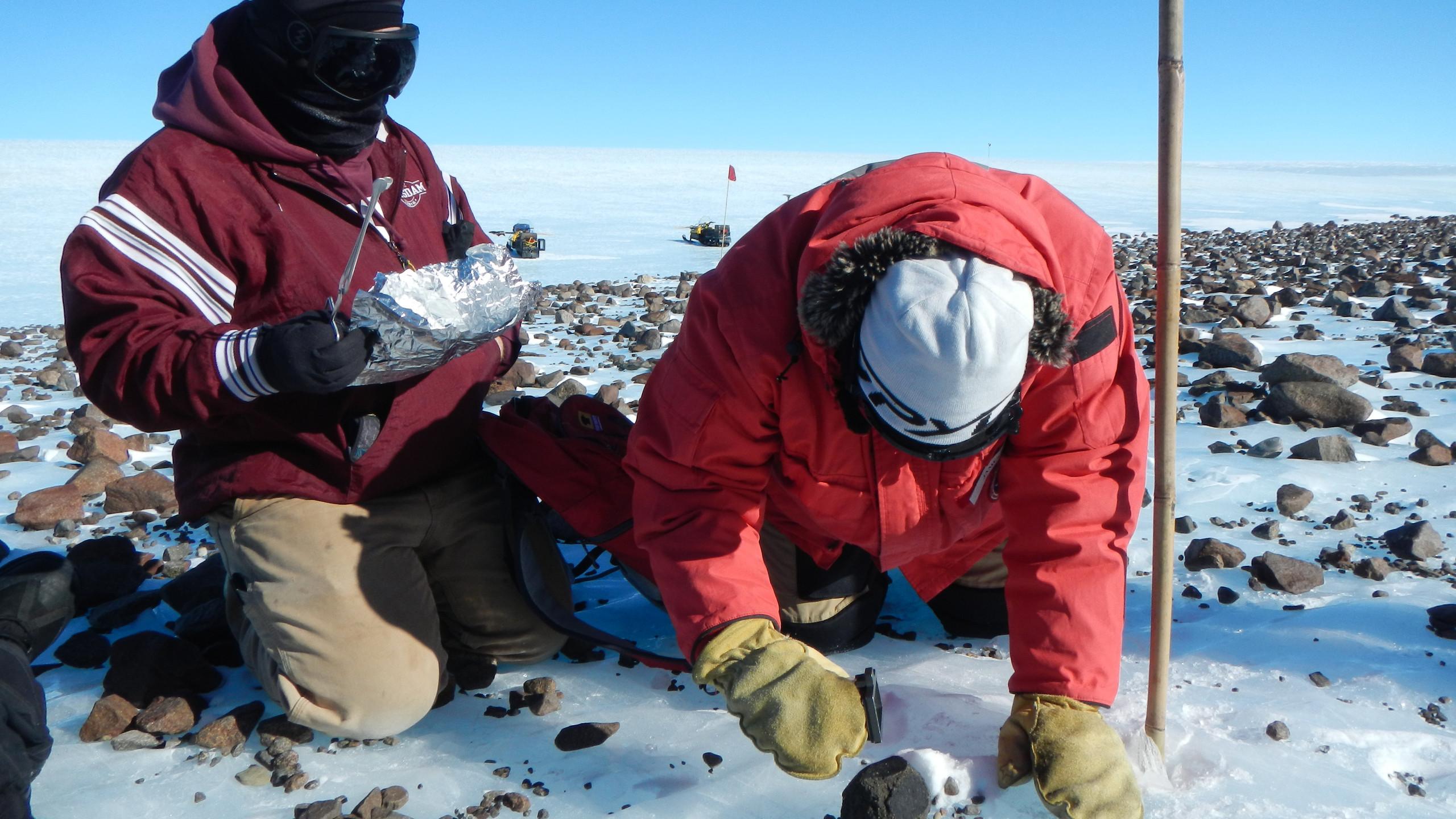 Meteorite sample, Antartica