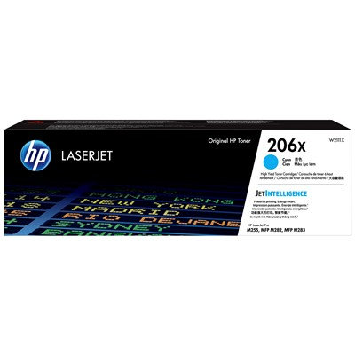 HP 206X Cyan High Yield LaserJet Toner Cartridge
