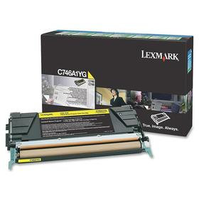 LEXMARK C746, C748 YELLOW TONER (7,000 PG. YIELD)