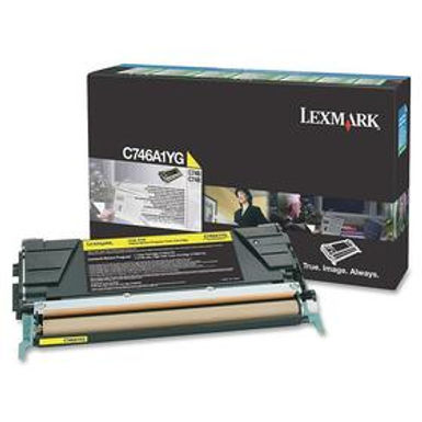 LEXMARK C746, C748 YELLOW TONER (7,000 PG. YIELD)