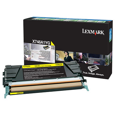 LEXMARK X746/X748 YELLOW TONER (7,000 PG. YIELD)