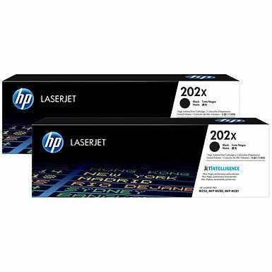 HP 202X Black Dual LJ Toner Cartridges