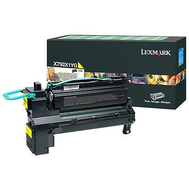 Lexmark X792  HY YELLOW TONER (20,000 pg. yield)