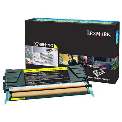 LEXMARK X748 HY YELLOW TONER (10,000 PG. YIELD)