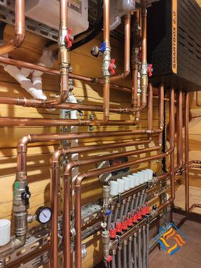 Инженерные системы под ключ в доме из сибирского кедра, Узигонты