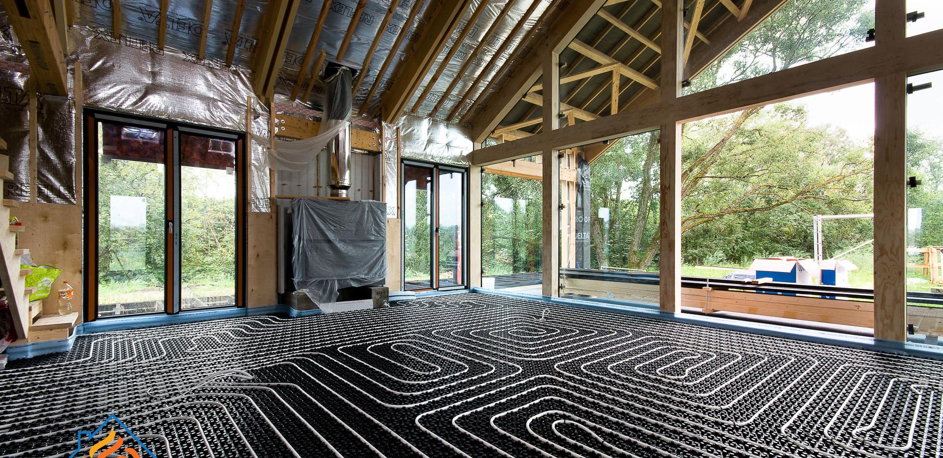 """Водяной тёплый пол, дом в стиле """"barn house"""""""