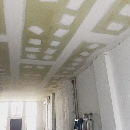 Sound proof ceiling being installed in an office #innerwestplasterer #plasterer #darlinghurst #archi