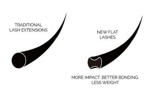 Flat (Ellipse) D Curl Lashes