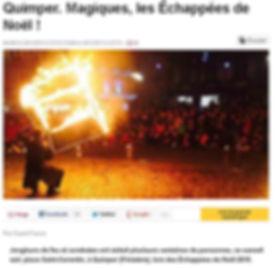 Article de presse - Ouest france - Magiques les échappées de Noel