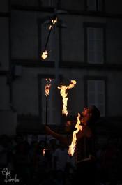 cracheur de feu et pyrotechnie - Aurillac