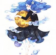 「月を抱く」