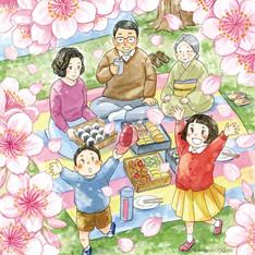 昭和のお花見