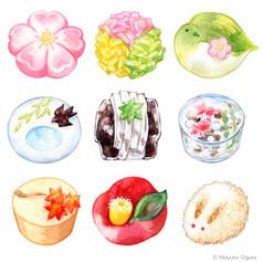 和菓子のイラスト