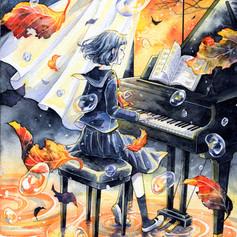 「秋の夕暮れ」