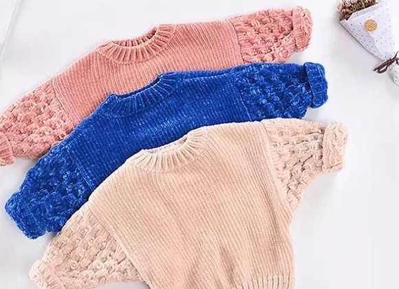 Baby Girl Fluffy Sweater