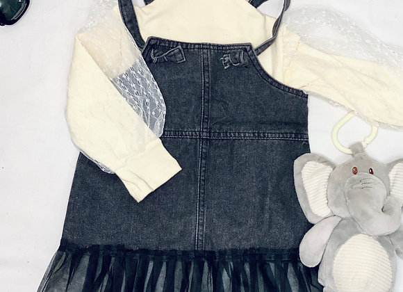 Baby Girl Lace Overall