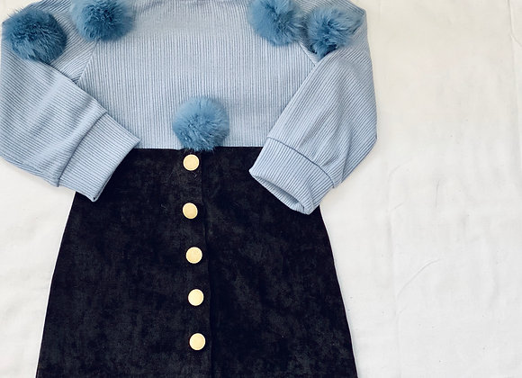 Baby Girl Puff Sweater Set