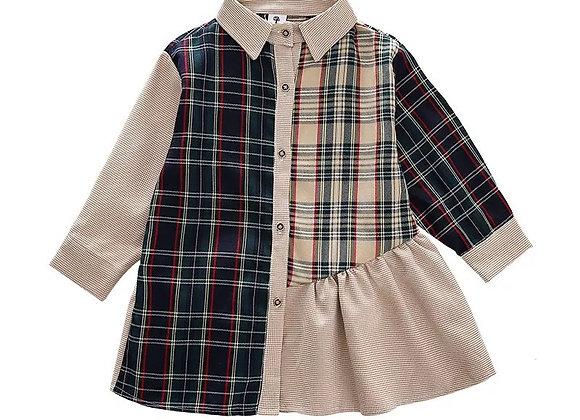 Baby Girl Autumn Plaid Dress