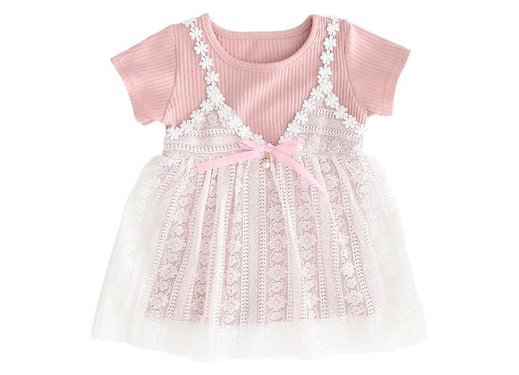 Baby Girl 2-in-1 Lace T-Shirt Dress