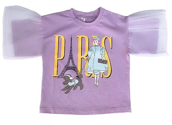 Baby Girl Tulle Puff Shirt
