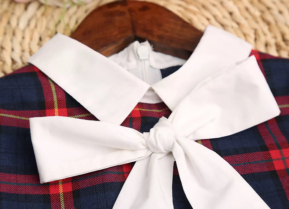 Baby Girl Plaid Bow Dress