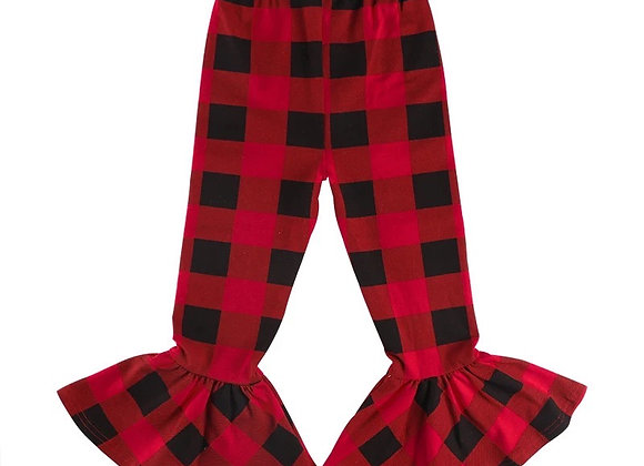 Baby Girl Wide Plaid Bottoms