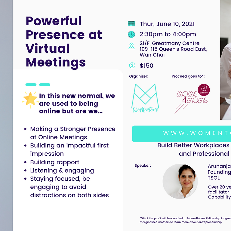 Powerful Presence at Virtual Meetings
