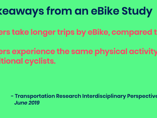 How eBikes Contribute to Public Health