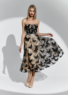 Suknia Jacqueline w motyle