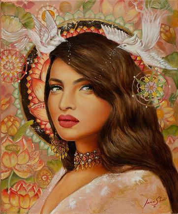 oil painting woman portrait