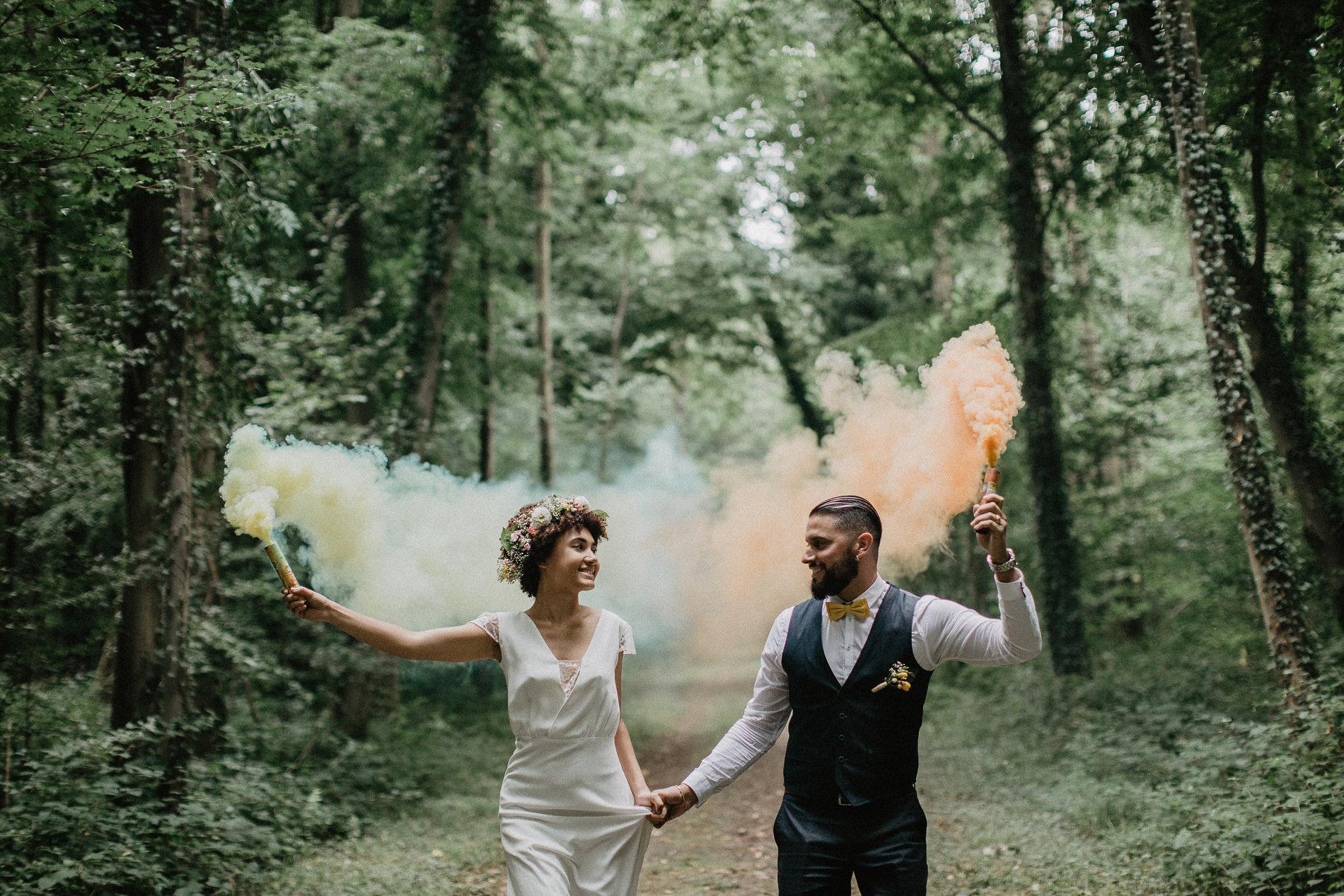 mariage champêtre coloré
