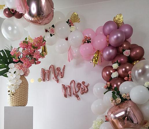 ballons decoration rose anniversaire evjf