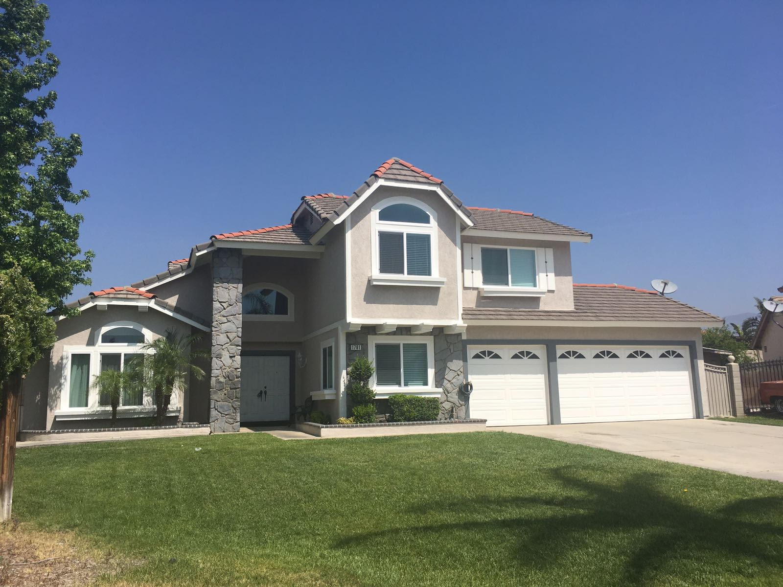 Exterior stucco and paint