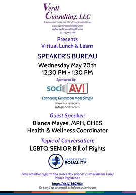 May Speakers Bureau Series Presented by Verdi Consulting and Sponsored by Sociavi