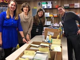 Teacher hosts book collection
